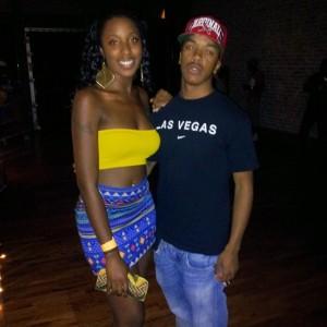 Me and Cobi MSU yellow