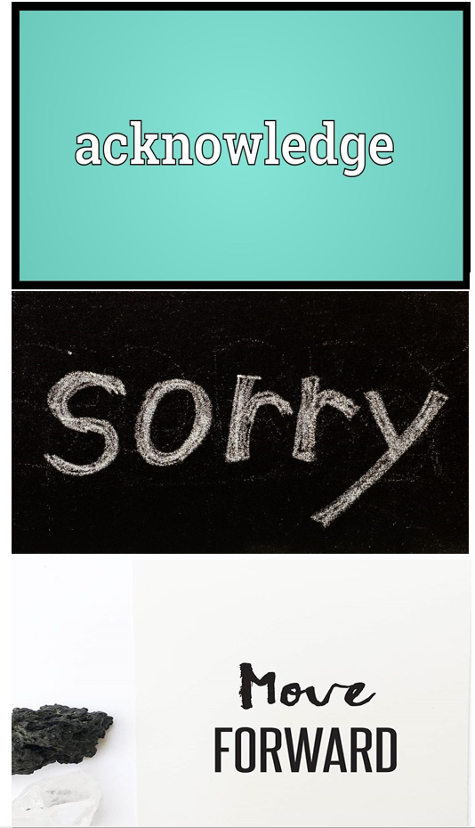 Acknowledge it & Apologize: How Do We Move On…orNot