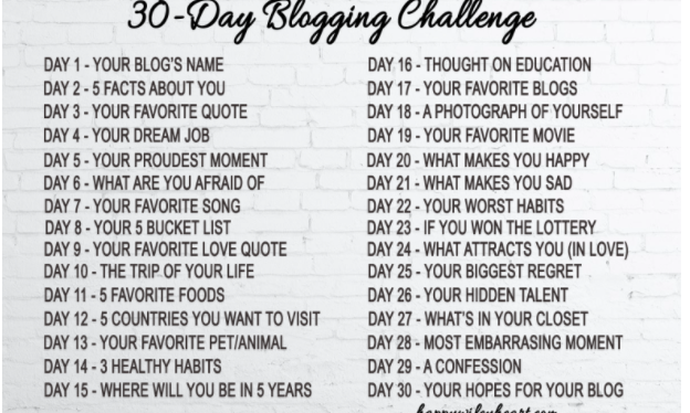 30 Day Blogging Challenge: Day 4